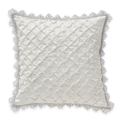 Waterford® Linens Whitney Pintuck Square Throw Pillow in White