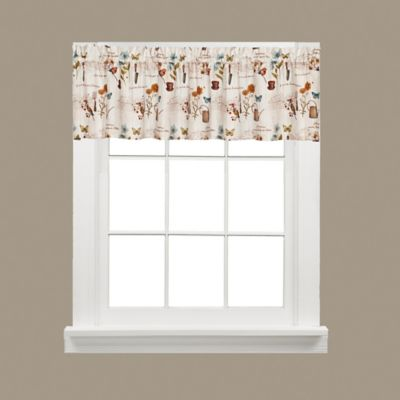 White Kitchen Curtains With Valance