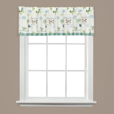 Garden Discovery Window Valance in White