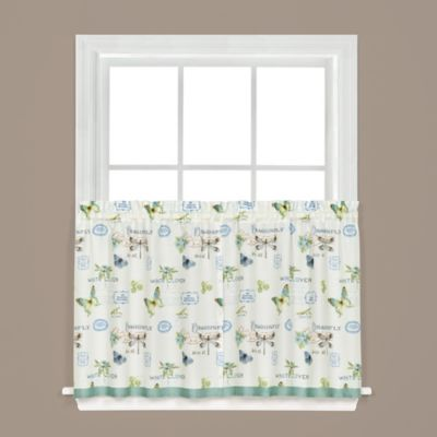 Garden Discovery 24-Inch Kitchen Window Curtain Tiers in White