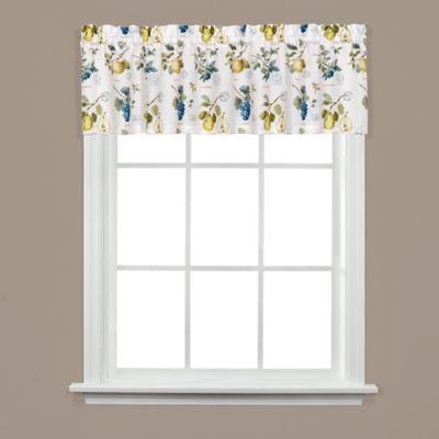 Botanical Fruit Window Valance in White