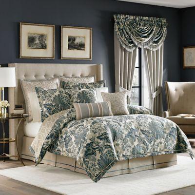 Croscill® Marietta Queen Comforter Set in Blue/Ivory