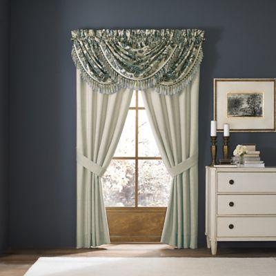 Croscill® Marietta 28-Inch Waterfall Swag Window Valance in Blue/Ivory