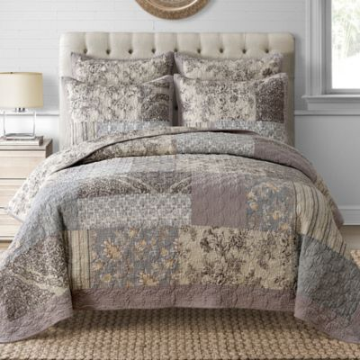 Davis Full/Queen Quilt in Taupe