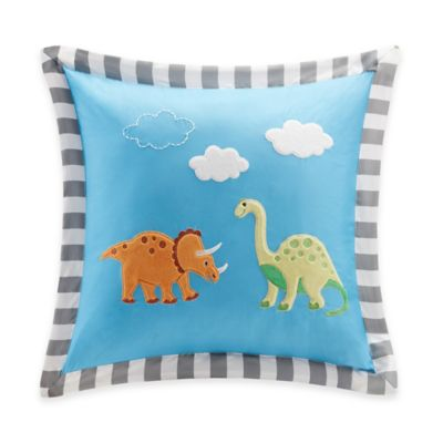 Mi Zone Kids Dinosaur Dreams Applique Throw Pillow