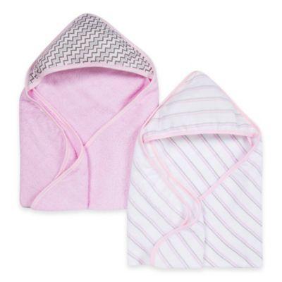Miracle Blanket® 2-Pack Muslin Hooded Towel in Pink