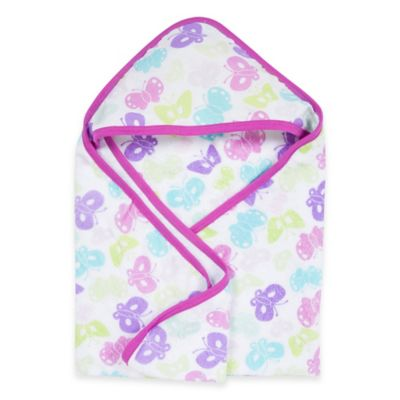 MiracleWare Butterflies Muslin Hooded Towel