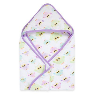 MiracleWare Owls Muslin Hooded Towel