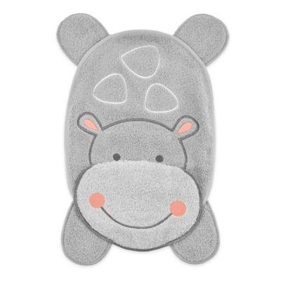 Just Born® Hippo Cozy Washcloth in Grey