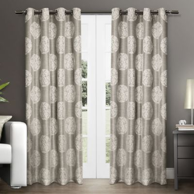 Akola 96-Inch Grommet Top Window Curtain Panel Pair in Dove Grey
