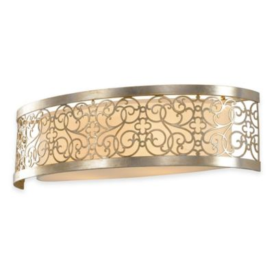Feiss® Arabesque 2-Light Bath Vanity Fixture in Silver