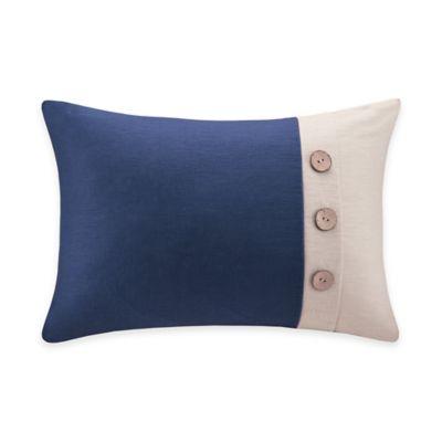Navy / Red Throw Pillow