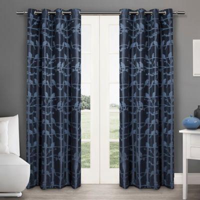 Lovebirds 84-Inch Grommet Top Window Curtain Panel Pair in Natural
