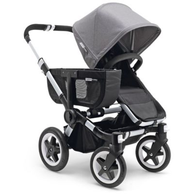 Bugaboo Donkey Tailored Fabric Sun Canopy in Grey Melange