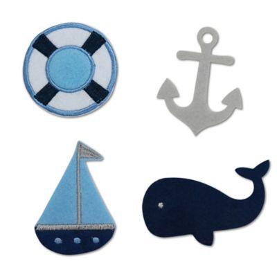 Little Haven 4-Piece Nautical Letter Embellishment Set