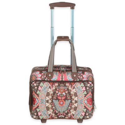 Oilily® Travel 25-Inch Rolling Office Bag in Brown