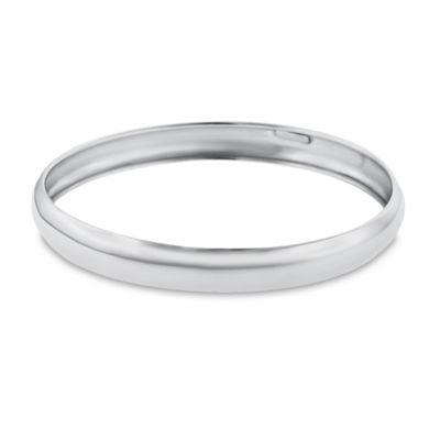 Sterling Silver Polished Curved Slip-On Ladies' Bangle Bracelet