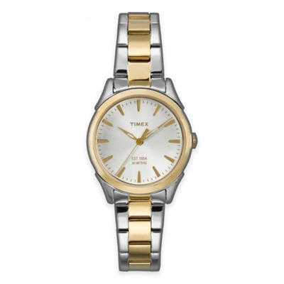 Timex® Chesapeake Ladies' 29mm Classic Round Watch in Two-Tone Stainless Steel