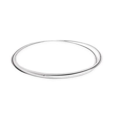Sterling Silver Crossover Slip-On Ladies' Bangle Bracelet