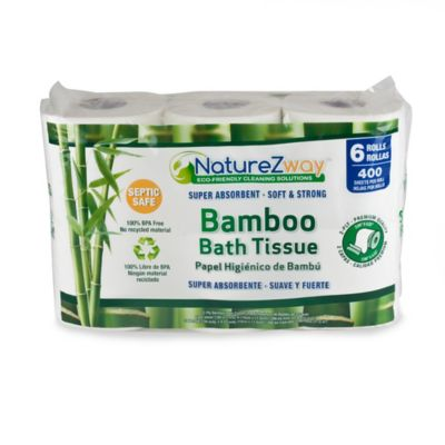 NatureZway 6-Pack 400-Sheet Bath Tissue