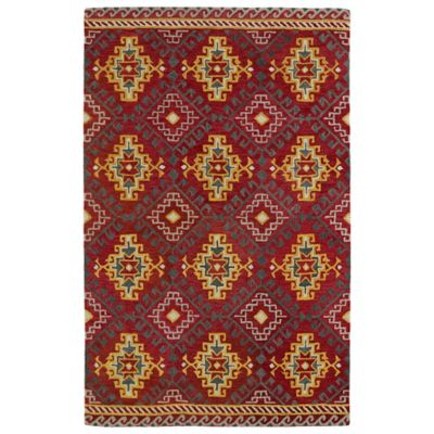 Kaleen Global Inspirations Diamond 2-Foot x 3-Foot Accent Rug in Red