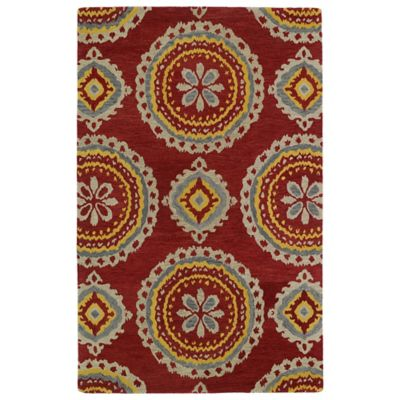 Kaleen Global Inspirations Medallion 2-Foot x 3-Foot Accent Rug in Red