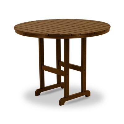 POLYWOOD® La Casa Counter Height Dining Table in Teak