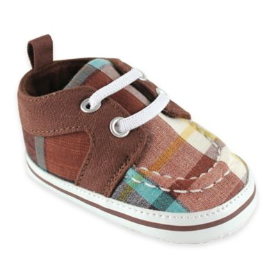 BabyVision® Luvable Friends™ Size 0-6M Plaid Sneaker in Brown