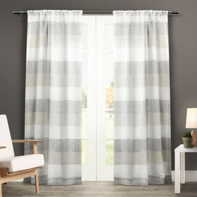 Bern 84-Inch Rod Pocket Window Curtain Panel Pair in Natural