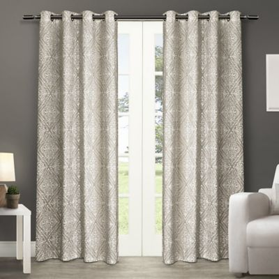 Sira 84-Inch Grommet Top Window Curtain Panel Pair in Ivory