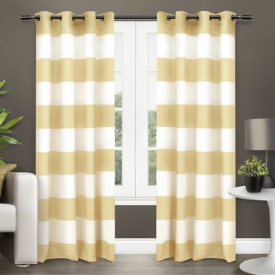 Exclusive Home Surfside 84-Inch Grommet Top Window Curtain Panel Pair in Sun Yellow