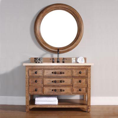 Malibu 48-Inch Honey Alder Wood Single Vanity with Galala Beige Stone Top