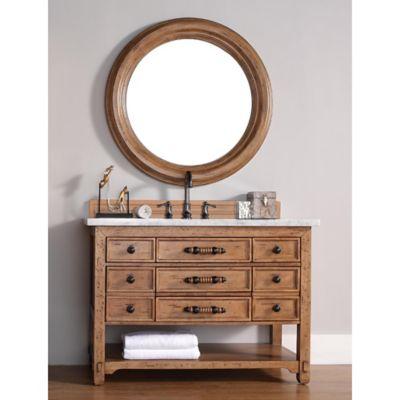 Malibu 48-Inch Honey Alder Wood Single Vanity with Cararra White Stone Top