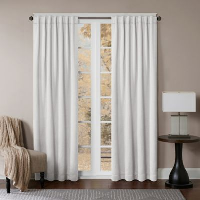 Princeton 63-Inch Rod Pocket/Back Tab Window Curtain Panel in White