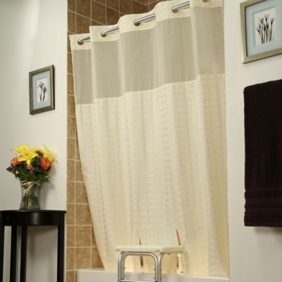 BenchBuddy® Polyester Shower Curtain in Beige