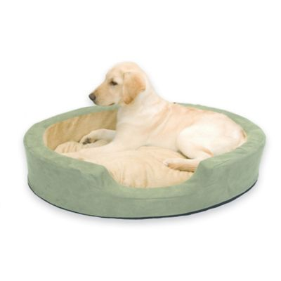 Thermo Snuggly Medium Heated Pet Sleeper in Sage