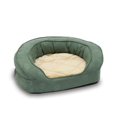 Deluxe Ortho Bolster Medium Pet Sleeper in Green
