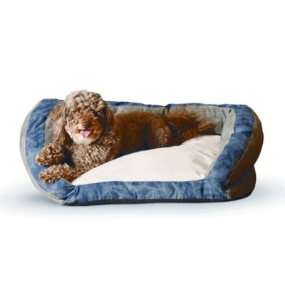 K&H Premium Logo 21-Inch x 30-Inch Bolster Pet Bed in Brown