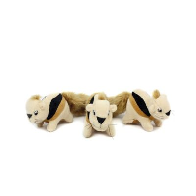 Outward Hound® 3-Pack Squeaking Squirrels Dog Toy in Beige/Tan