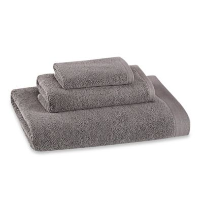 Kenneth Cole Reaction Home Cooper Wash Cloth in Gunmetal
