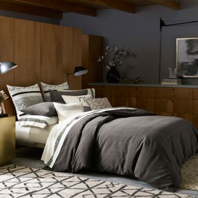 ED Ellen DeGeneres Mombasa Twin Duvet Cover in Charcoal