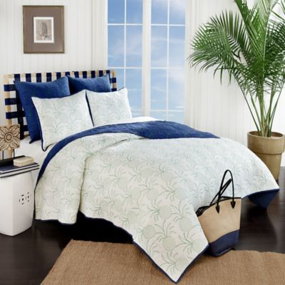 Pina Reversible King Quilt in Navy