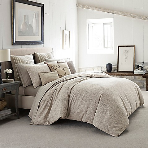Ed ellen degeneres mosaic tile comforter in beige bed - Bed bath and beyond bedroom furniture ...