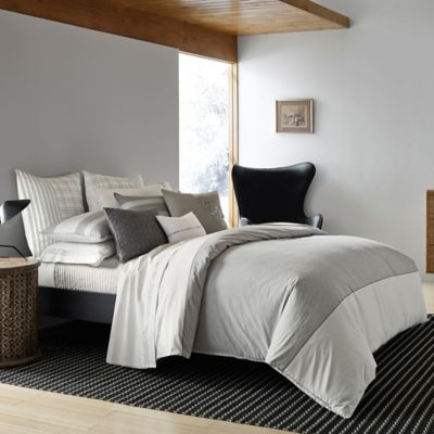 ED Ellen DeGeneres Greystone King Duvet Cover in Heathered Grey