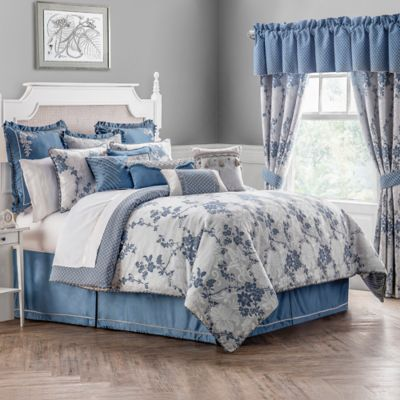 Waterford® Linens Charlotte Reversible California King Comforter Set in Silver