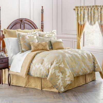 Waterford® Linens Juliette Reversible California King Comforter Set in Ivory/Gold