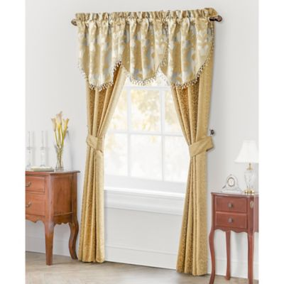 Waterford® Linens Juliette 84-Inch Window Curtain Panel Pair in Gold