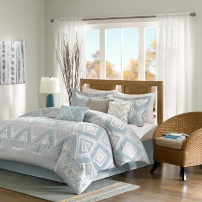 Madison Park Kiely 7-Piece California King Comforter Set in Blue