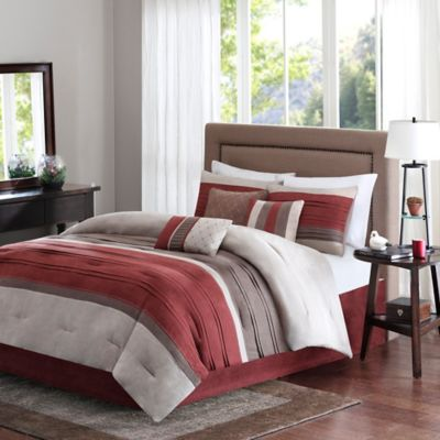 Madison Park Collins 7-Piece Queen Comforter Set in Spice