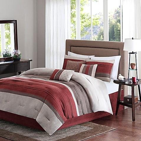Buy madison park collins 7 piece queen comforter set in 7 piece queen bedroom furniture sets